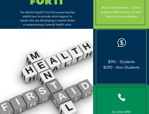 Mental Health First Aid – Blended Delivery Online & Workshop