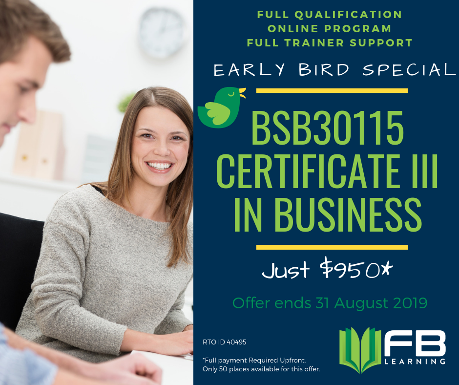 BSB30115 – Certificate III in Business